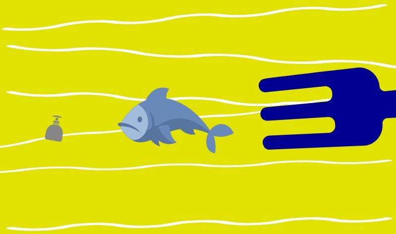 Mikroplastik - Mensch isst Fisch isst Plastik