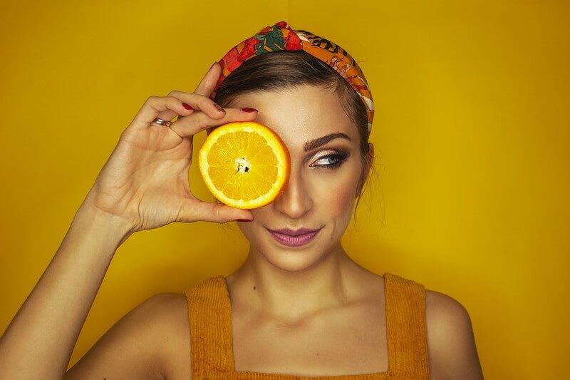 Orange Vitamin C in der Gesichtspflege